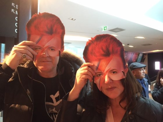 Holiday Goddess contributing writer Mark Ferguson and friend at the David Bowie exhibition, Melbourne (Copyright Mark Ferguson).