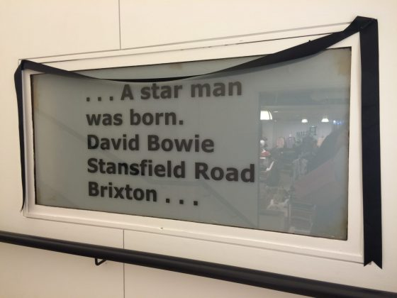 Bowie Sign Morleys Staircase
