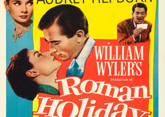 Roman Holiday poster from 1953. Image from WikiMedia Commons