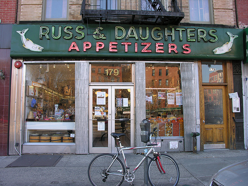 Russ & Daughters store on East Houston Street, New York