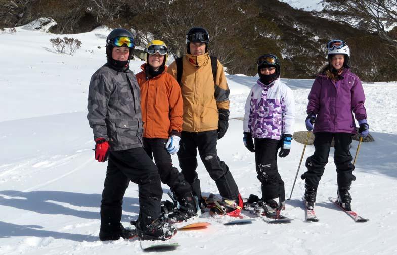 The family head to Guthega, Perisher Ski Resort.