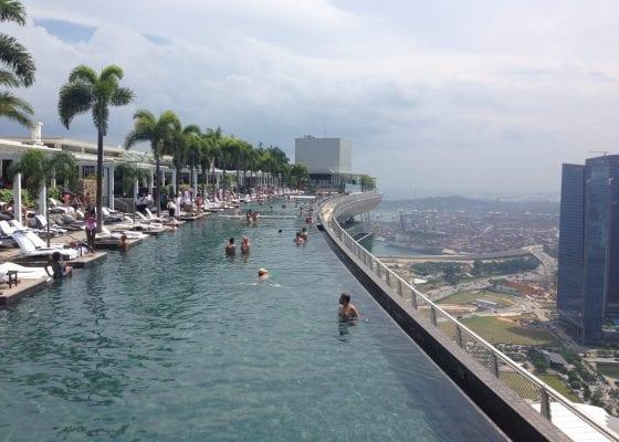 Singapore - Infinity pool at Marina Bay Sands, Singapore