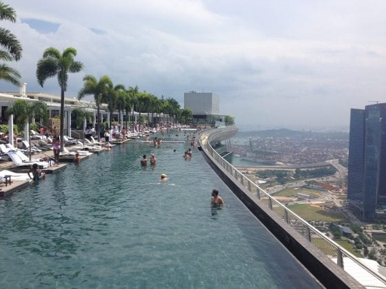 Singapore - Infinity pool at Marina Bay Sands, Singapore