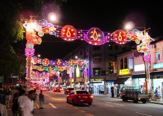 Singapore's Little India during Deepavali