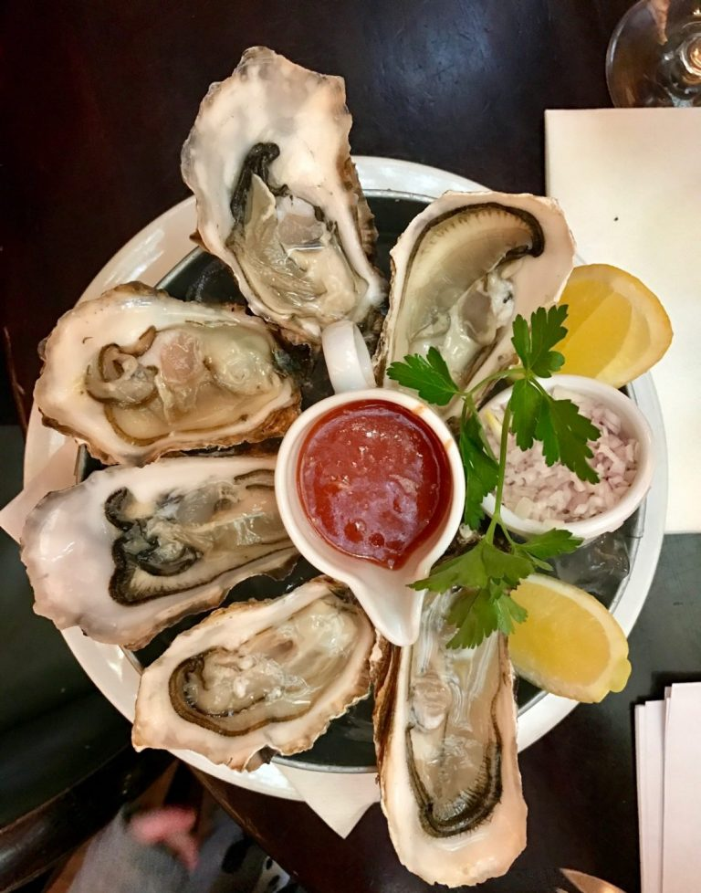 Oysters at The Bank in Dublin.