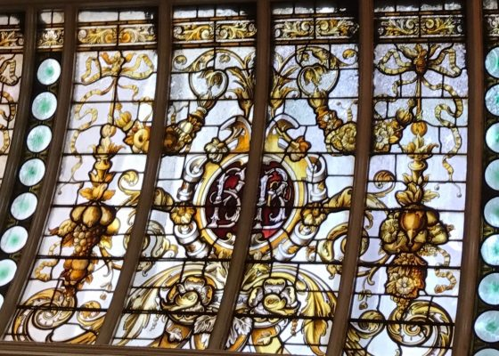 Beautiful stained glass at The Bank, Dublin.
