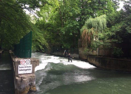River surfing, Munich