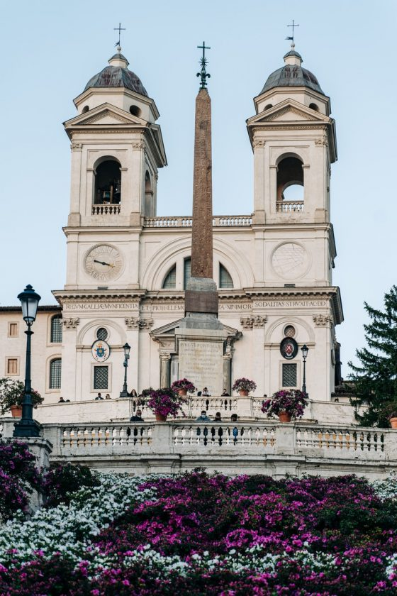 Spanish Steps in Rome covered by azeleas Photo by Gabriella Clare Marino, Unsplash