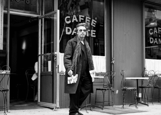 Al Pacino leaving Caffe Dante