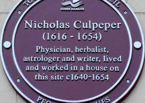 Plaque tribute to Nicholas Culpeper