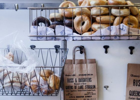 Bagels at Russ & Daughters photo by Jennifer Burk, Unsplash
