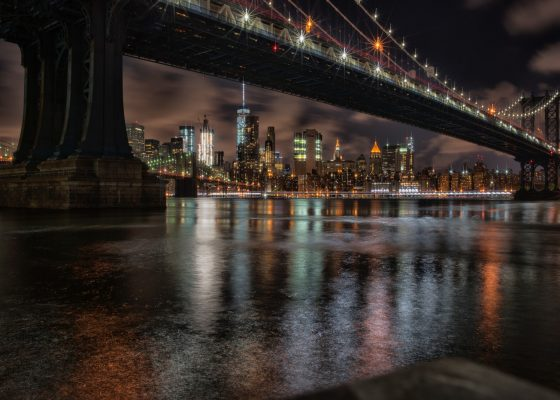 low light photography of New York buildings