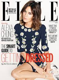 Alexa Chung on Cover of Elle
