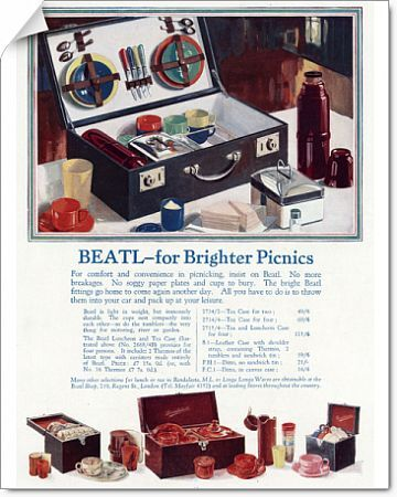 Advert for Beatl picnic basket 1930